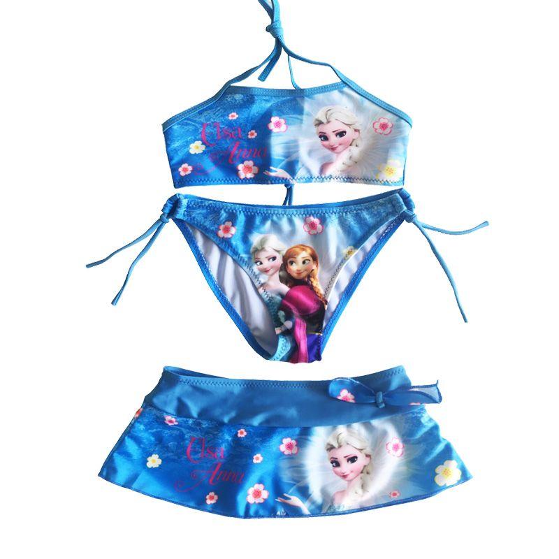 2019 nouveau été bébé filles Elsa Anna vêtements costume filles vêtements ensembles maillot de bain filles bikini ensemble