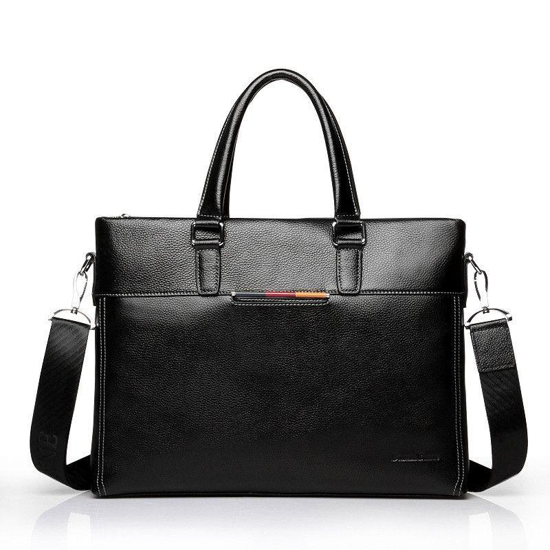 Weiche Echtes Kuh Leder Männer Tasche Ultra-dünne Aktentasche Handtasche Marke Designer Männer Schulter Tasche Casual Mode-Business tasche