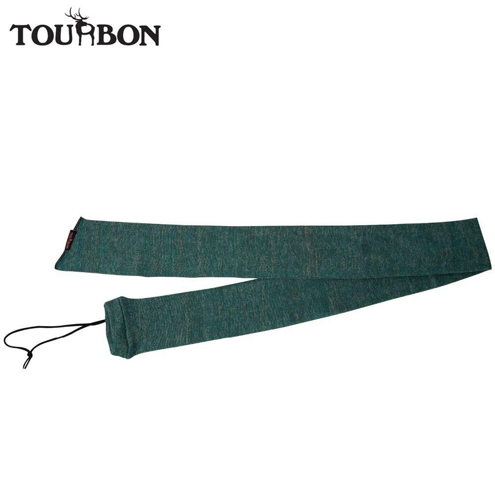 Tourbon Tactical Rifle Silicone Treated Knit Gun Sock Shotgun Cover Gun Protector for Shooting Hunting Gun Accessories 134CM