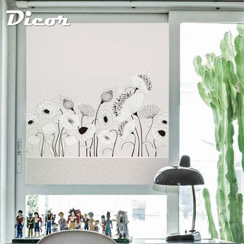 Free Customized Stained Static Cling Window Film Frosted Opaque Privacy Glass Sticker Home Decor Digital print Simple BLT309KJ