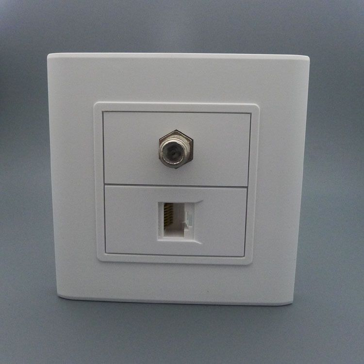 F head TV and RJ45 network wall plate