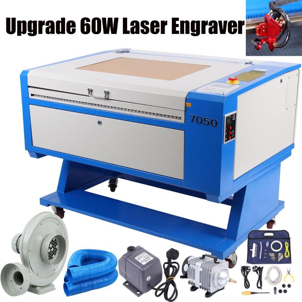 UK Verschiffen! 700*500mm 60 watt Co2 Gravur Laser Gravur USB Schneiden Holz Glas DST DXF JPG