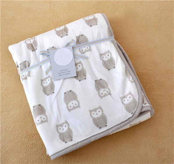 Mode carters Europe bébé enfants éléphant hibou motif couverture dessin animé être tenir climatisation genou bleu couverture 15 style