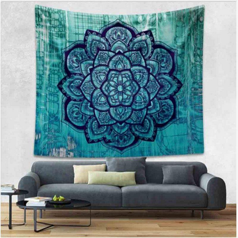 IDouillet Ombre Mandala bohème tapisseries Modal coton Hippie Boho Mandala tapisserie pour décoration murale tapis de Yoga robe de plage jeter
