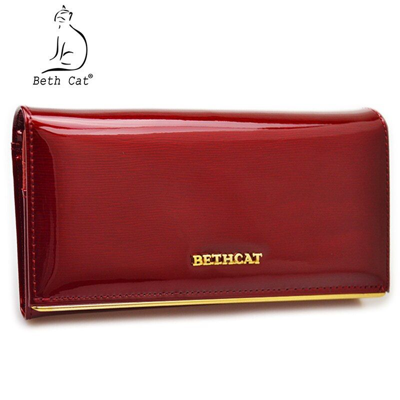Beth Cat Wallet Female Long Womens Wallets Purses High Quality Solid Genuine Leather Female Handbags Hasp Women Coin Purse