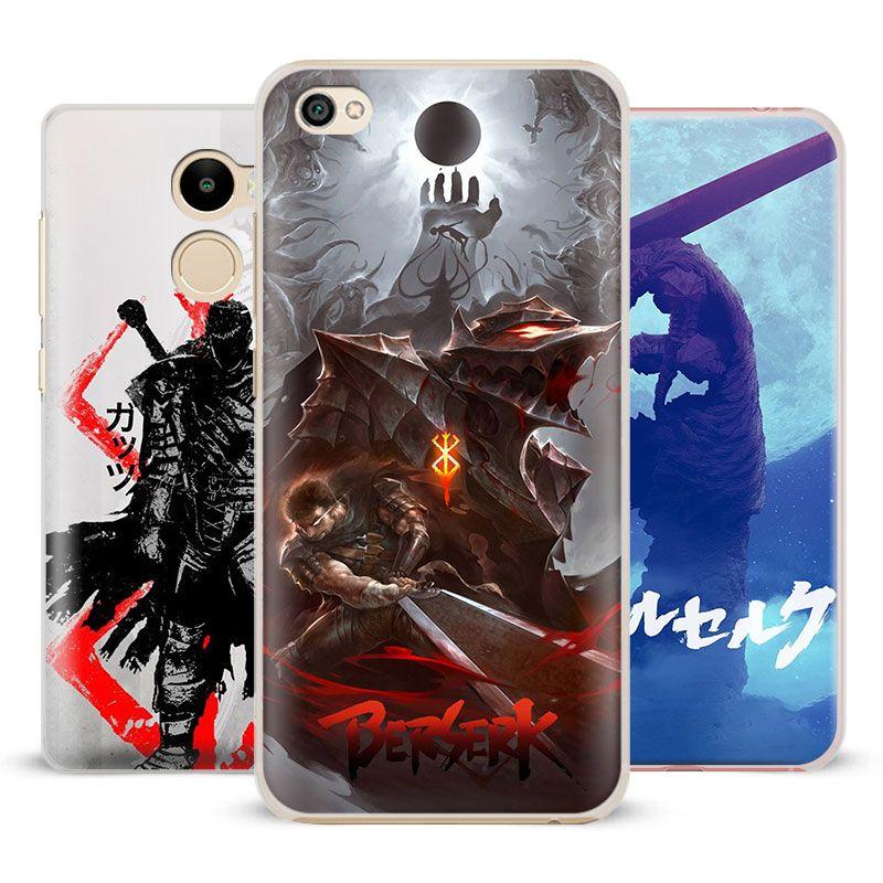 Berserker Eingeweide Anime Coque Telefon Fall Shell Cover Für Xiaomi Redmi Hinweis 2 3 4 4X 5A Pro Mi 4 5 5 S Plus 5X6 MiA1 Minote 2 3