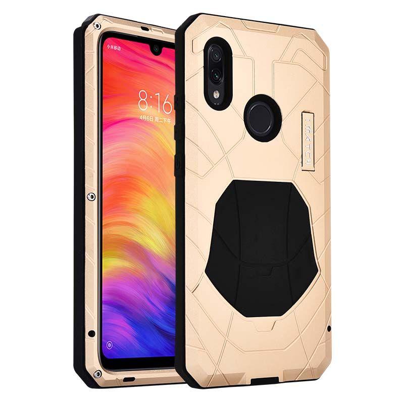 Housse de téléphone en Silicone en métal antichoc tactique de luxe en plein air pour Xiaomi Redmi Note7 Note 7Pro KS0172
