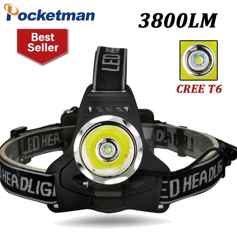 Led Headlight 3800Lm Xm-L T6 High Power Led Head Torch Front Lampe Headlamp Flashlight Linterna Fishing Camping Hiking Cycling