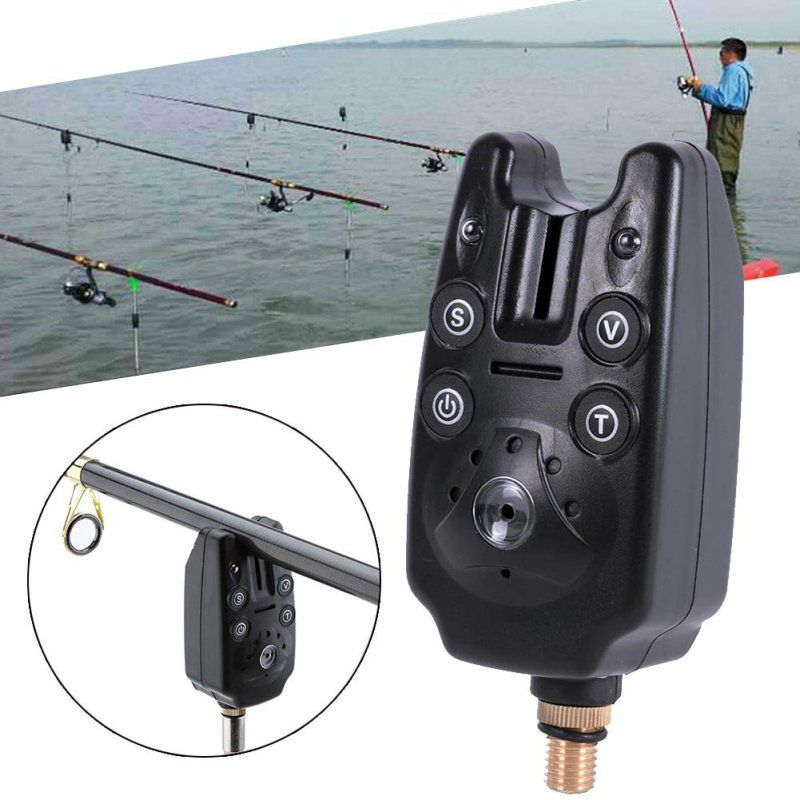 2 LED ton Volume étanche réglable morsure de poisson alarme sonore sensibilité équipement de pêche