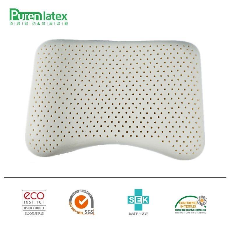 PurenLatex 57x37 aéré thaïlande pur Latex naturel oreiller Concave Anti-raide doux orthopédique oreiller vertèbres soins de santé