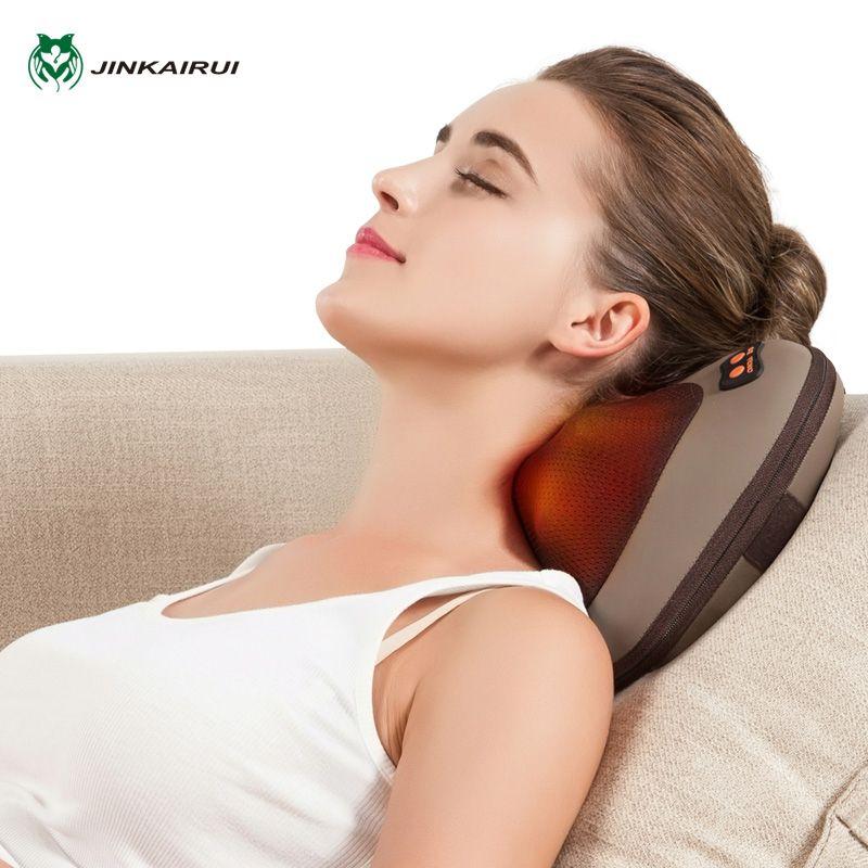 JinKaiRui vibrant pétrissage cou corps masseur marteau oreiller infrarouge Shiatsu électrique épaule dos Massage Massagem voiture/maison