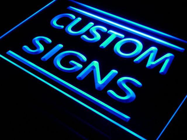 7 Tailles Multi Couleur Télécommande Personnalisé Néon Signes Conception Votre Propre LED Néon Signes Rectangle Forme Ronde