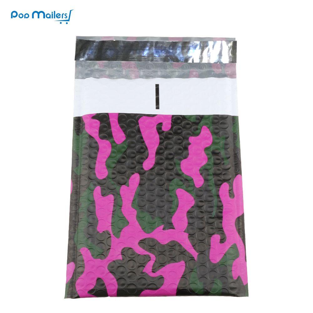 50 pcs 175x230mm Camouflage couleur En Plastique bulle mailer, Mélange couleur poly bulle enveloppe wrap bag