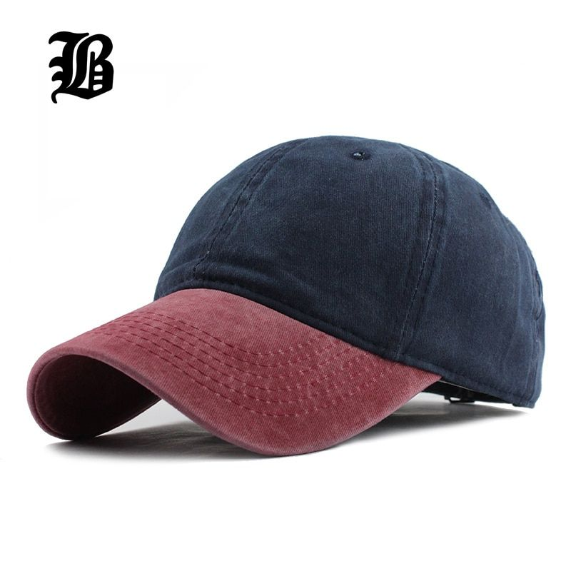 [FLB] 9 Mixed colors Washed Denim Snapback Hats Autumn Summer Men Women Baseball Cap Golf Sunblock Beisbol Casquette Hockey Caps
