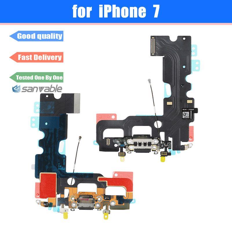 Für iPhone 7 Original Neue Ladeanschluss USB Ladegerät Dock Connector mit Mikrofon Antenne Flex Kabel Ersatzteile