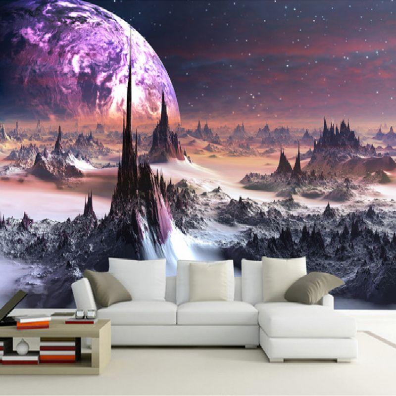 Hohe Qualität Tiefe Textur 3D Universum Wandbilder Wand Papier Rolle Wohnkultur Tapete Schlafzimmer Wohnzimmer Sofa Hintergrund Tapeten