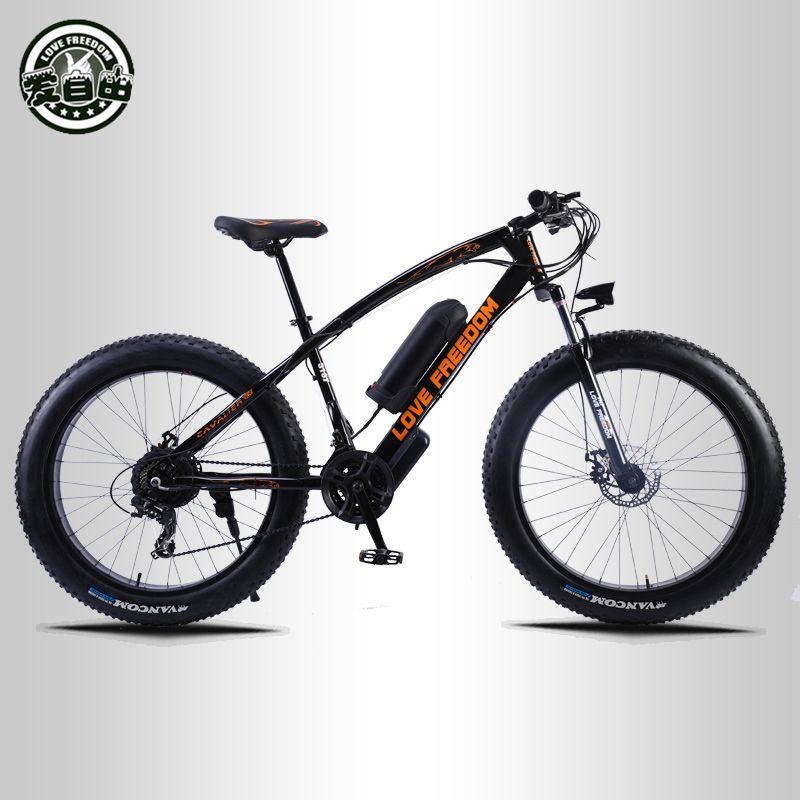 Liebe Freiheit 24 geschwindigkeit Mountainbike Elektro Fahrrad 36V 350W 10.4Ah 26X4,0 leistungsstarke elektro Fett fahrrad kostenlose lieferung