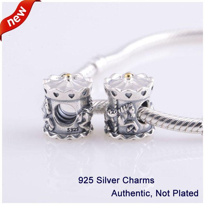 L331 nouveauté authentique 100% 925 argent Sterling perles originales Carrousel manège breloques à assembler soi-même convient pour Bracelet Pandora