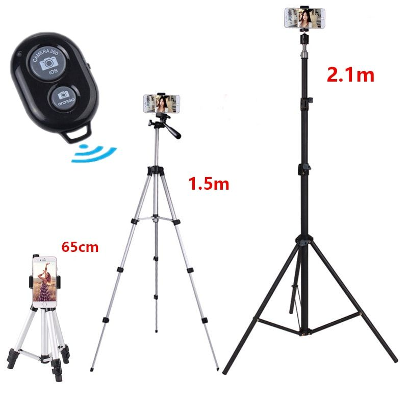 Professional tripod For iPhone 7 6 8 Plus X Universal Portable Digital Camera Camcorder Tripod Stand Lightweight Stainless Steel