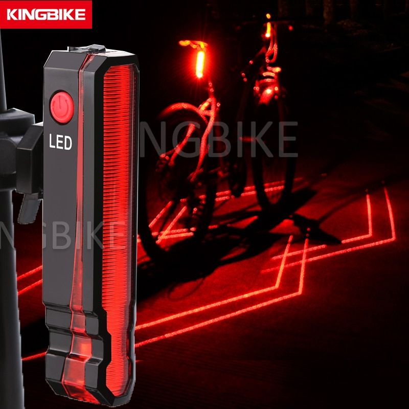 BaseCamp New USB Rechargeable Bicycle Rear Light Cycling LED Taillight Waterproof Laser Width MTB Road Bike <font><b>Tail</b></font> Light Back Lamp