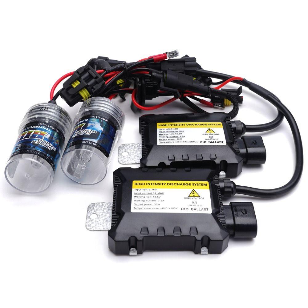 1sets 35W HID xenon H4 H1 H3 H8 H9 H10 HID H11 bulb H13 880 881 9005 9006 9007 HB1 9004 hid conversion kit xenon hid kit H7
