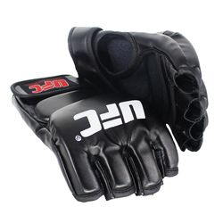 SUOTF Schwarz Kämpfen MMA Boxing Sport Leder Handschuhe Tiger Muay Thai kampf box mma handschuhe boxen sanda boxen handschuh pads mma