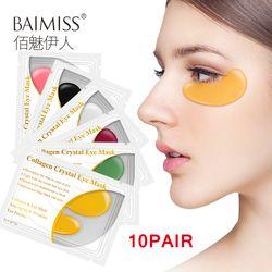 Baimiss 20 шт. = 10 пар 24 к Золотая омолаживающая маска для глаз антивозрастная коллаген для ухода за кожей патчи для глаз темный круг удаление ант...