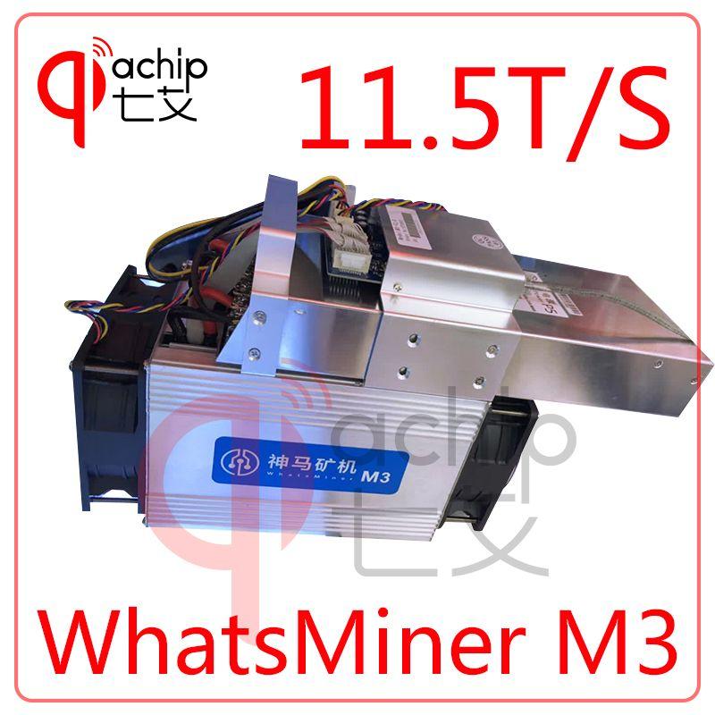 Neuheiten WhatsMiner M3 BTC BCH miner + NETZTEIL Asic Bitcoin Miner 11.5TH/S (MAX 12 T/S) 0,17 kw/TH besser als Antminer S7 S9 T9 + V9