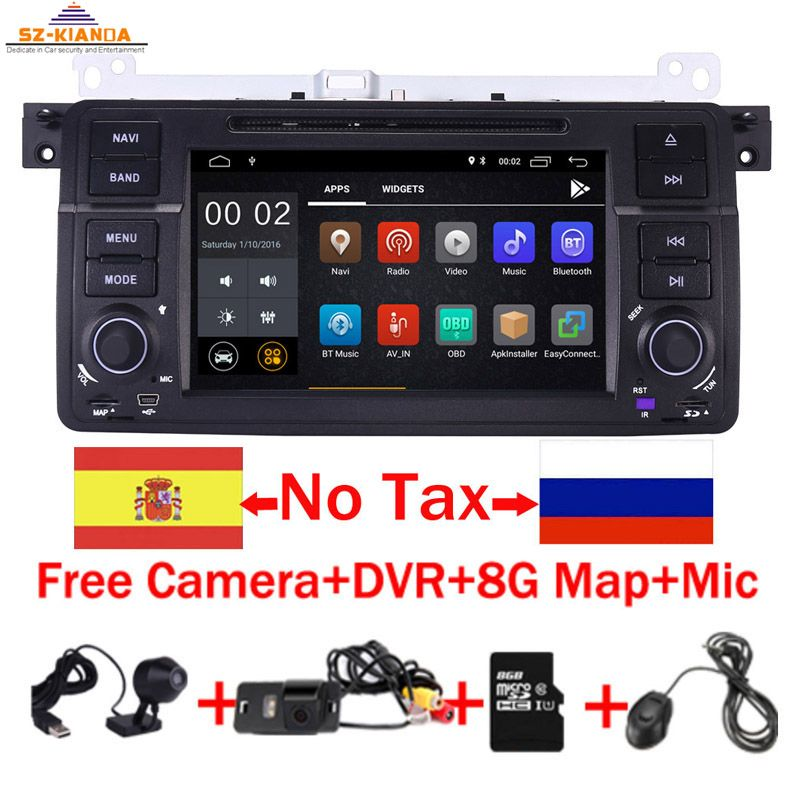 Fabrik preis 2 Din Android 9.0 Auto DVD GPS Navi für BMW E46 M3 Wifi 3G Bluetooth Radio RDS USB SD lenkrad Kostenloser kamera