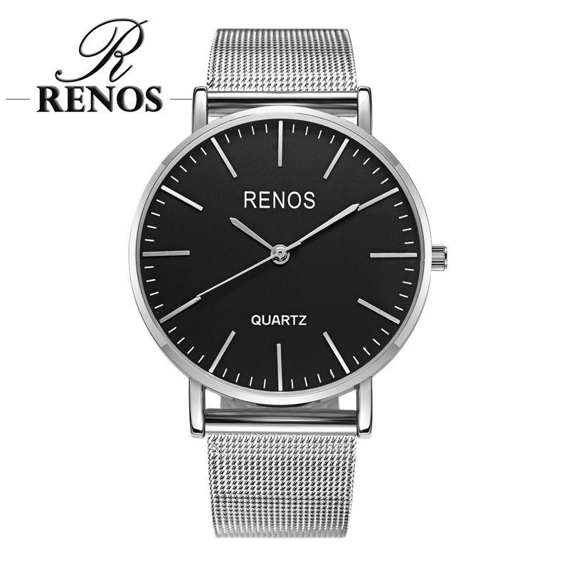 RENOS femmes montre avec boîte alliage bande bracelet analogique Quartz montres mode décontracté amant Couple montres dames montre femme