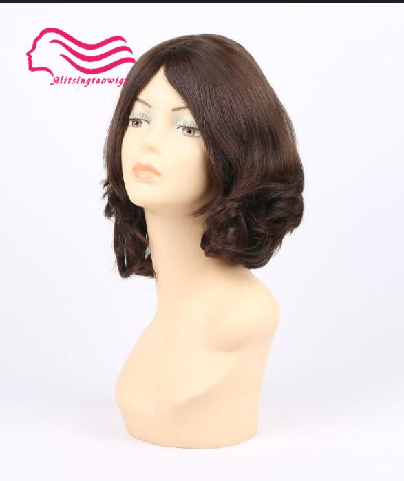 European virgin hair , unprocess hair slight wave jewish wig , silk top kosher wig Best Sheitels free shipping