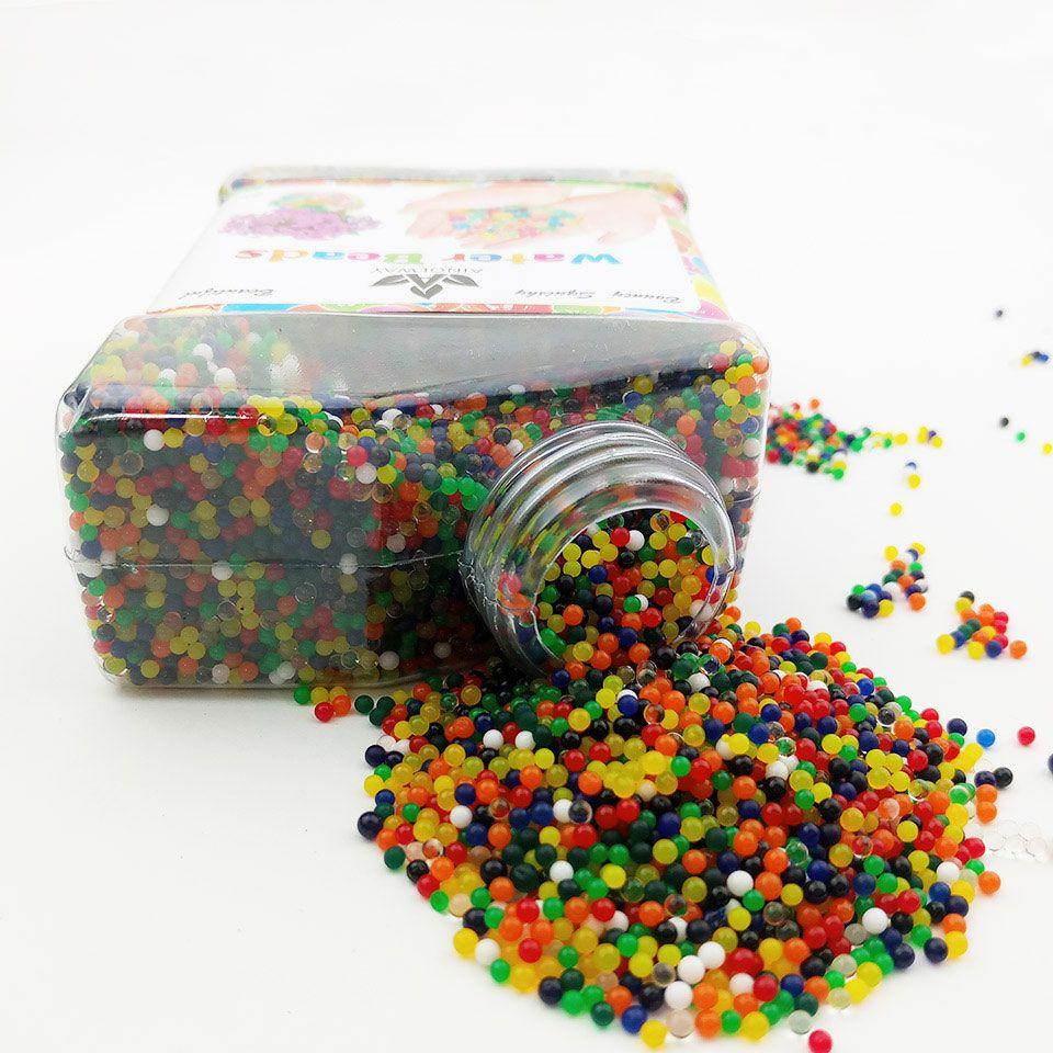 Perles d'eau Hydrogel perle en forme de sol en cristal boue cultiver Bio Gel boule pour fleurs plante Vase pistolet Aqua Gel perles polymère Orbiz jouet