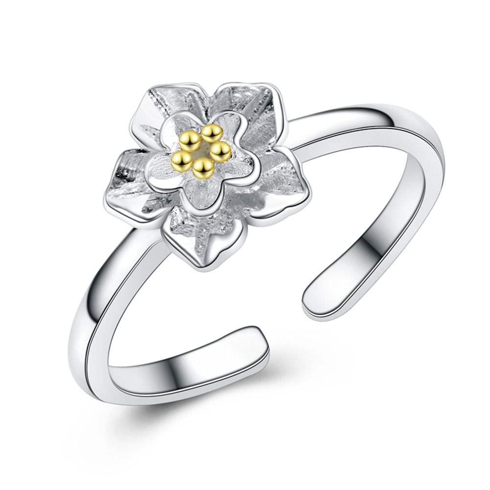 Pure 925 Silver Chrysanthemum Flower Rings For Women Sterling Silver Jewelry Jewellery wholesale Resizable Finger Ring Accessory