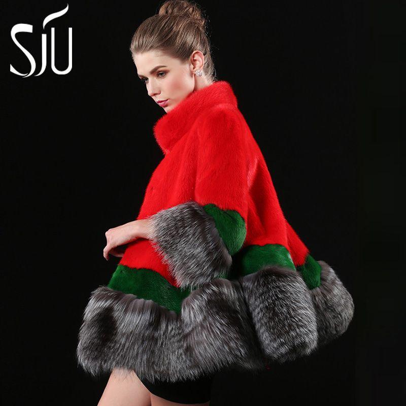 Sju marder samt mantel weiblichen nerz pelzmantel pelzmantel mittel lange weibliche jacke pelzmäntel winter jacken mex