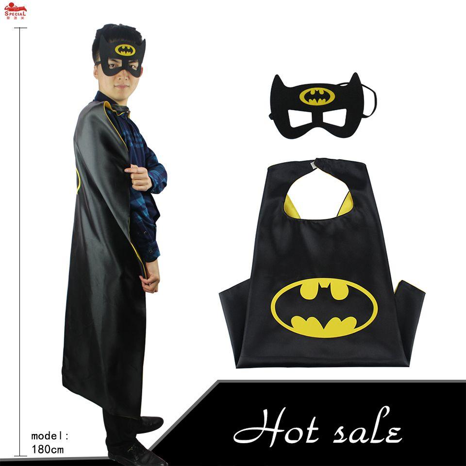 SPÉCIAL L 55 * batman adulte costume superhero cape masque d'anniversaire cadeau De Noël manteau adulte fantaisie robe costume adulte hommes