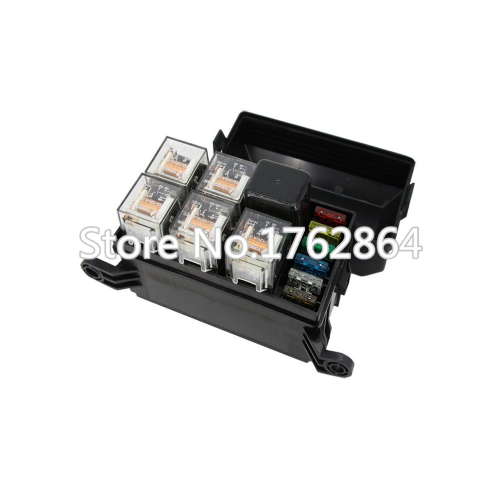 6 ways Auto Relay Fuse box assembly with 1PCS 4P12V 40A+5PCS 4Pin 12V40A relay Auto car insurance tablets fuse mounting fuse box