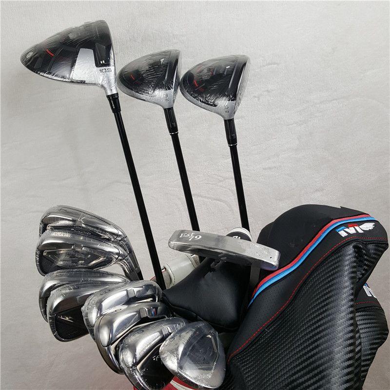 12 stücke M4 Golf Vollen Satz M4 Golf Clubs M4 Fahrer + Fairway Woods + Eisen + putter Graphit/ stahl Welle Mit Head Cover keine tasche
