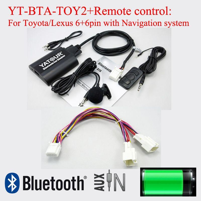 Yatour BTA Bluetooth car adapter with reomote control for Lexus Toyota 6+6pin radios