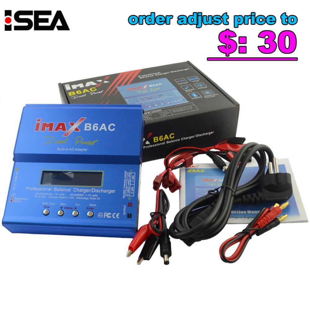 HTRC iMAX B6 AC B6AC 80W 6A Dual RC 50W 5A Balance Battery Charger Lipo Lipo <font><b>Nimh</b></font> Nicd Battery With Digital LCD Screen