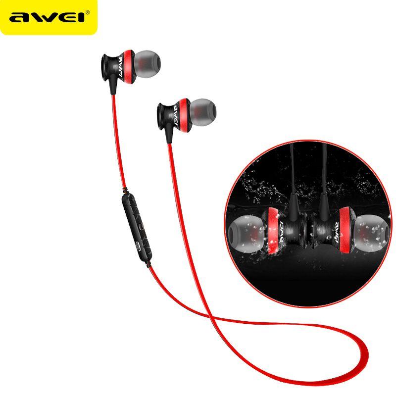 Awei A980bl <font><b>Bluetooth</b></font> Earphones Headset Wireless Headphones With Microphone For iPhone Xiaomi fone de ouvido Auriculares