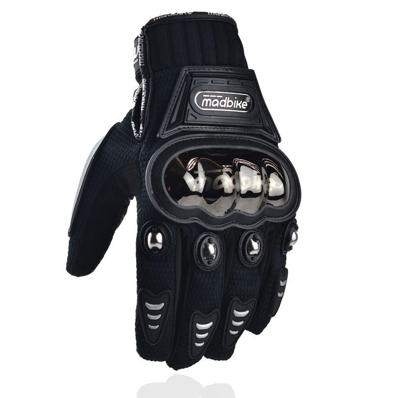 Madbike date gant moto cycle course hiver moto gants de vélo guantes para moto de invierno femmes protection en acier inoxydable