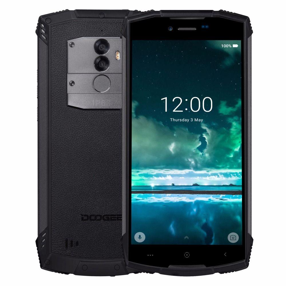DOOGEE S55 Lite IP68 Étanche 5.5 HD + Mobile Téléphone Android 8.1 MTK6739 Quad Core 2 gb 16 gb 13MP + 8MP 5500 mah 4g Smartphone