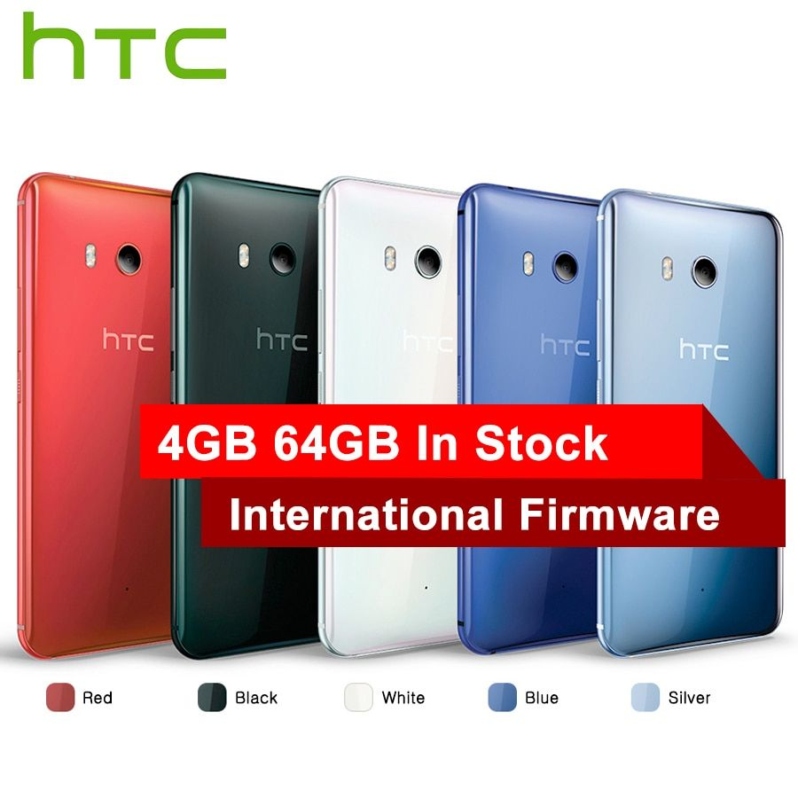 Hot Sale HTC U11 4G LTE Mobile Phone Snapdragon 835 Octa Core IP67 Waterproof 6GB RAM 128GB ROM 5.5 inch 2560x1440p Smart Phone
