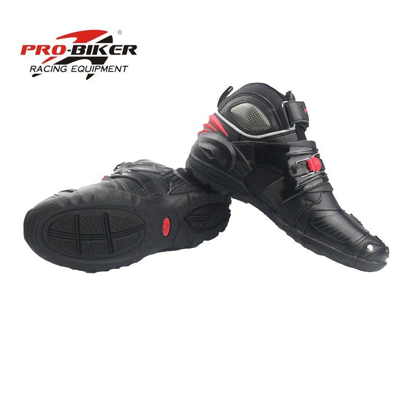 Pro biker motobotinki lederstiefel für motorrad moto stiefel botas para motorräder motorboats schuhe motocross atmungs schwarz