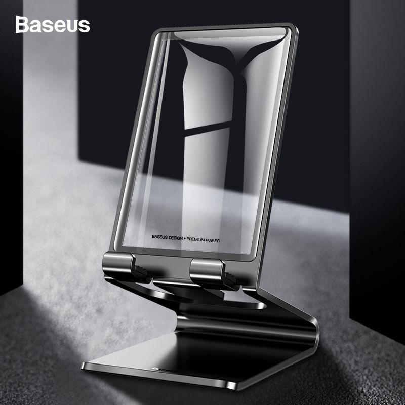 Baseus Handy Halter Stehen Für iPhone XS Max iPad Nicht-slip Desktop Halter Metall Schreibtisch Stehen Für Telefon samsung Xiaomi Tablet