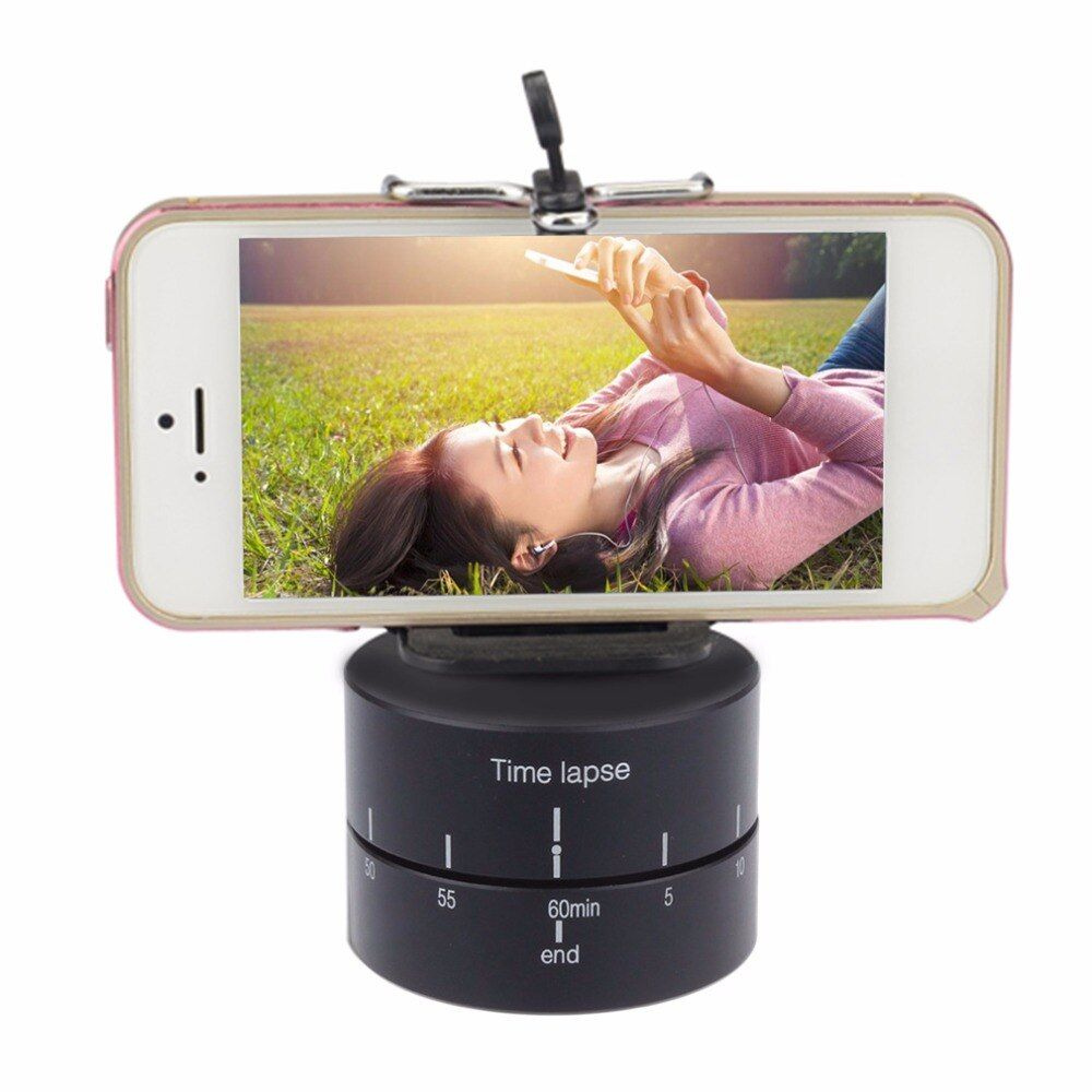 Time lapse 360 degree Auto Rotate Camera tripod head base 360 TL timelapse For Xiaoyi for Gopro Camera SLR for iphone andriod