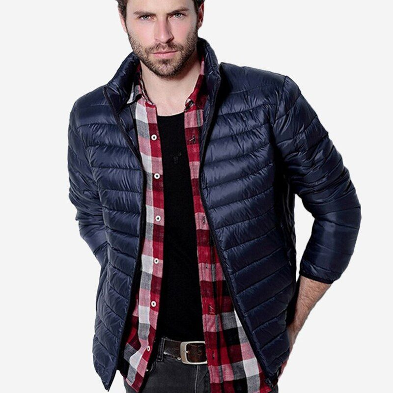 Mens Autumn Winter Duck Down Jacket Men Solid Breathable Jackets Men Outdoors Coats Parka chaqueta hombre Plus Size 3XL