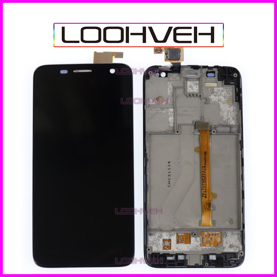 For Alcatel One Touch Idol Mini 6012 OT6012 6012D Assembly LCD Display Touch Screen Digitizer with frame Full high quality