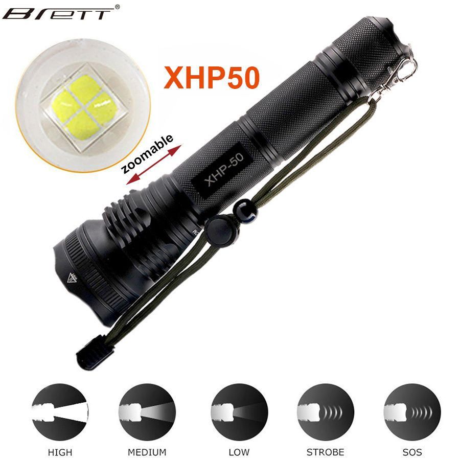 New Long Shot LED Tactical Flashlight CREE XHP50 /XHP70 Highlight 5000Lumens lanterna aluminum 2 mode LED flashlight torch