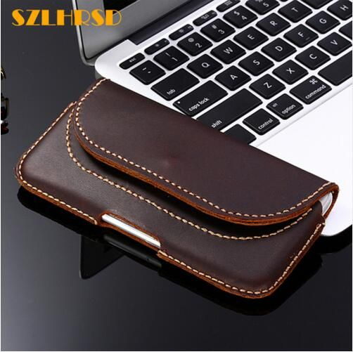 SZLHRSD Vintage Belt Clip Phone Bag for ZTE Blade A2S A520 Case Nubia M2 Z17 Mini Genuine Leather Holster cover high quality